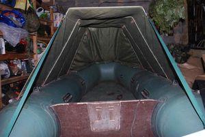 Самодельный тент на резиновую лодку