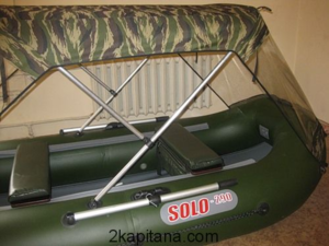 Ходовой тент на резиновую лодку