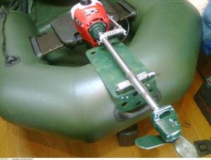 мотор из газонокосилки на лодку
