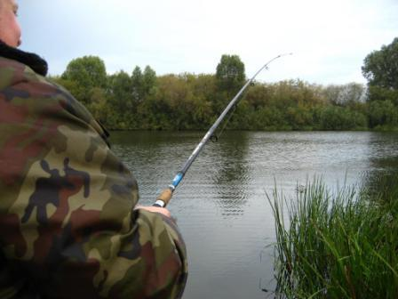 При ловле болонской удочкой, длина проводки на течении, ограничивается только длиной лески, и видимостью поплавка