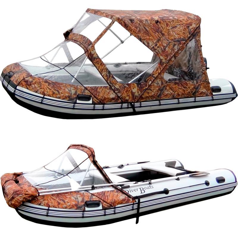 тент для лодки кабриолет комби