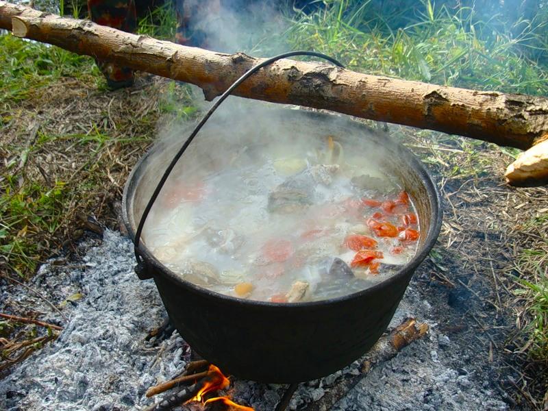 Рецепт ухи на рыбалке