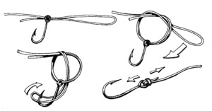 Как завязывать рыбатский узел паломар