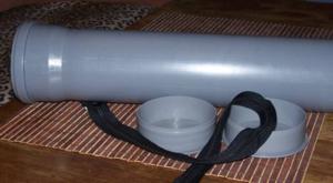 Сделать тубус можно и самому, например из сантехнической трубы